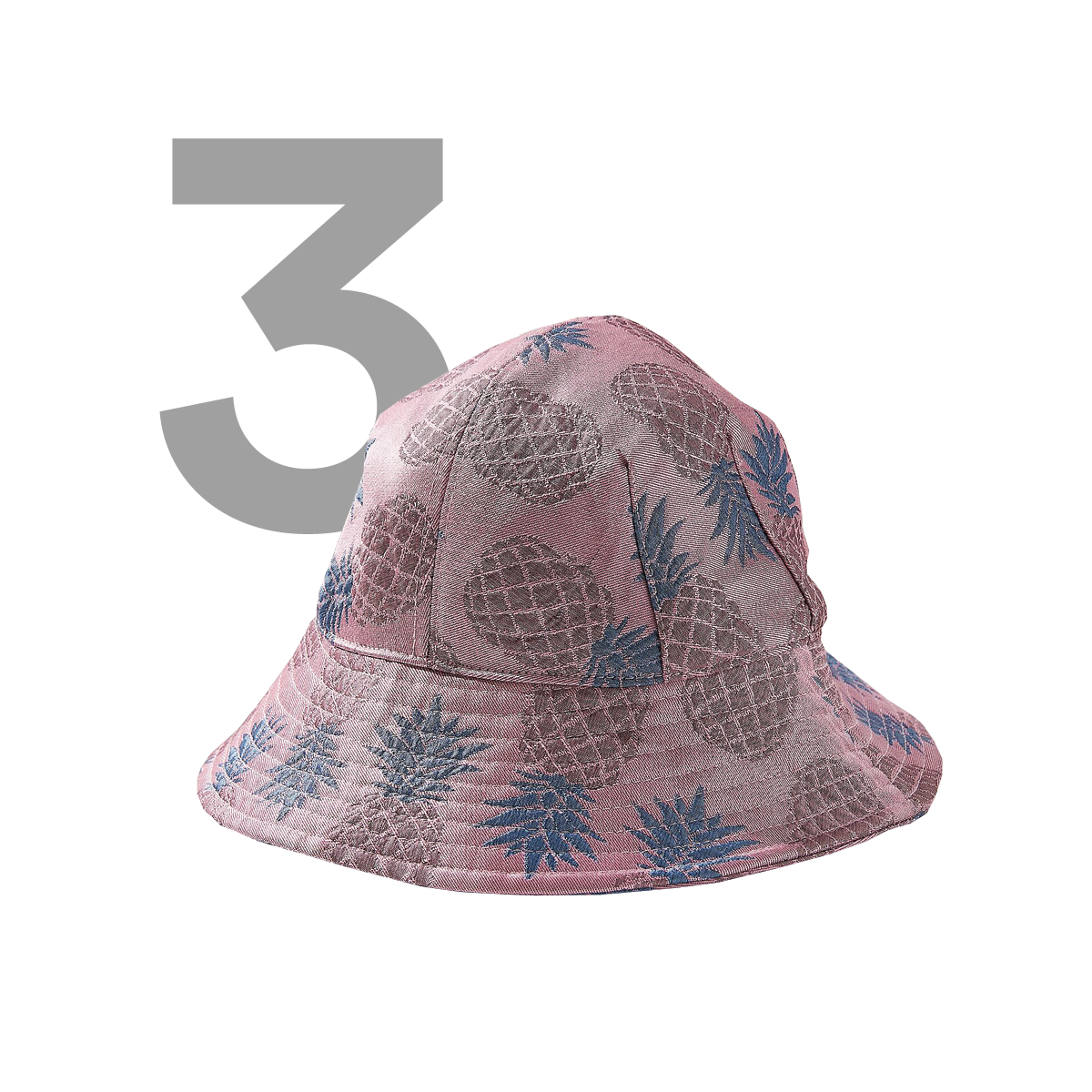 URBAN OUTFITTERS Pineapple Jacquard Bucket Hat